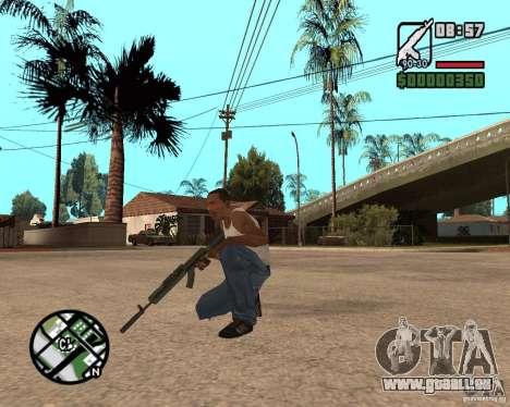 AK-47 from GTA 5 v.1 für GTA San Andreas dritten Screenshot