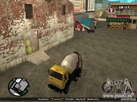 KAMAZ 53112 bétonnière pour GTA San Andreas vue de droite