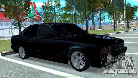 BMW E34 V1.0 pour GTA San Andreas sur la vue arrière gauche