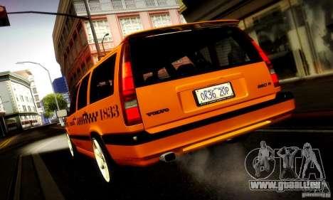 Volvo 850 R Taxi für GTA San Andreas zurück linke Ansicht