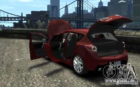 Mazda Speed 3 2010 pour GTA 4 Vue arrière