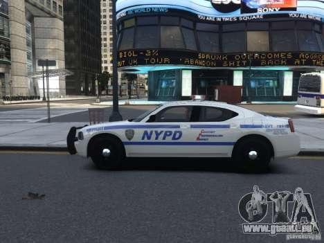 Dodge Charger NYPD für GTA 4 Rückansicht