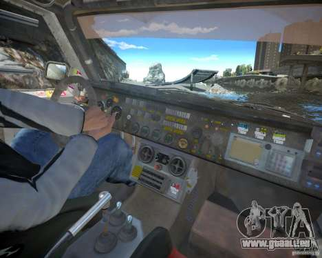 Mitsubishi Pajero Proto Dakar EK86 pour GTA 4 vue de dessus
