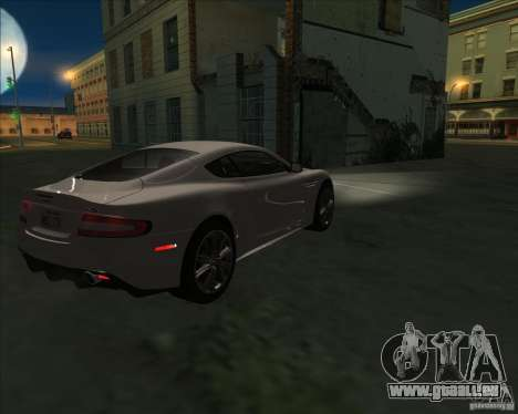 Aston Martin DBS 2009 pour GTA San Andreas laissé vue