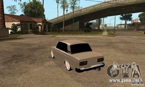 Lada VAZ 2107 LT pour GTA San Andreas sur la vue arrière gauche