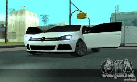 Volkswagen Golf R Modifiye pour GTA San Andreas vue de côté