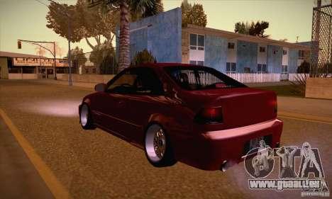 Honda Civic Tuning 2012 pour GTA San Andreas sur la vue arrière gauche