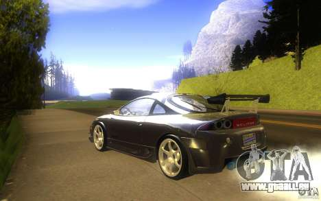 Mitsubishi Eclipse DriftStyle pour GTA San Andreas sur la vue arrière gauche