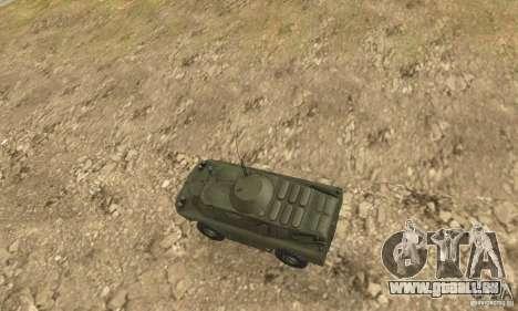 BRDM-2 Edition Standard pour GTA San Andreas vue arrière