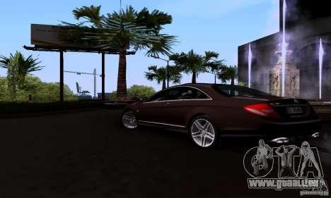 Mercedes-Benz CL65 AMG E.U. pour GTA San Andreas laissé vue