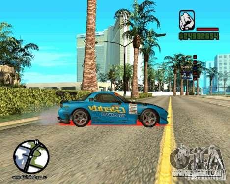 Mazda Rx-7 pour GTA San Andreas laissé vue