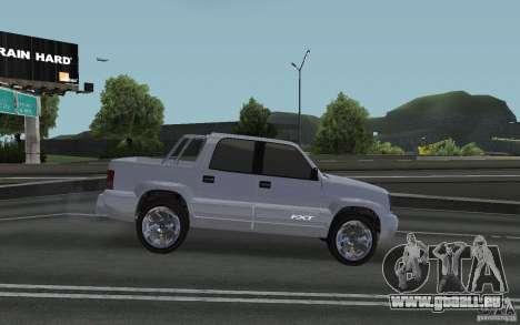 Cavalcade FXT von GTA 4 für GTA San Andreas zurück linke Ansicht