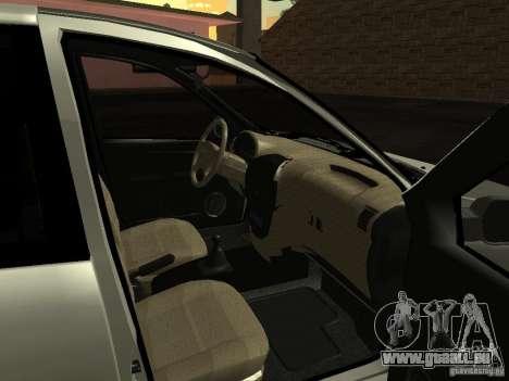 Lada 2190 Granta für GTA San Andreas Innenansicht