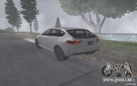SA Subaru Impreza-style pour GTA San Andreas vue de droite