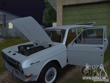 GAZ 24-02 für GTA San Andreas zurück linke Ansicht