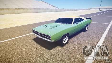 Dodge Charger RT 1969 tun v1.1 für GTA 4 Rückansicht
