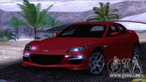Mazda RX8 R3 2011 pour GTA San Andreas vue de côté