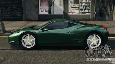 Ferrari 458 Italia 2010 pour GTA 4 est une gauche