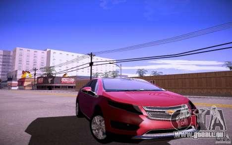 Chevrolet Volt pour GTA San Andreas sur la vue arrière gauche