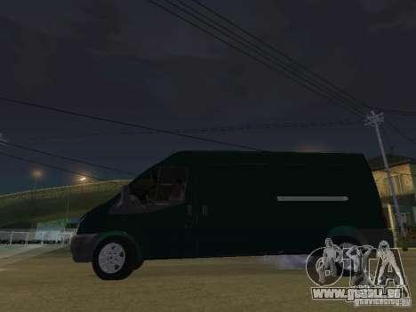 Ford Transit 350L für GTA San Andreas Innenansicht