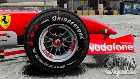 Ferrari F2005 für GTA 4 Rückansicht