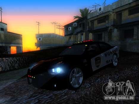 Dodge Charger SRT8 Police für GTA San Andreas zurück linke Ansicht