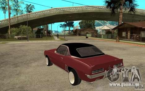 Chevrolet Camaro SS für GTA San Andreas zurück linke Ansicht