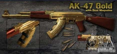 [Point Blank] AK47 Gold pour GTA San Andreas