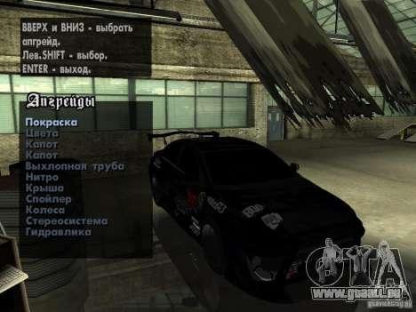 Mitsubishi Lancer Evolution X Drift Spec für GTA San Andreas Innenansicht