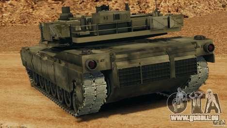 M1A2 Abrams pour GTA 4 Vue arrière de la gauche