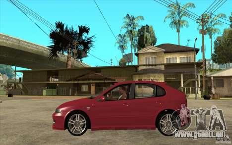Seat Leon Cupra - Stock pour GTA San Andreas laissé vue
