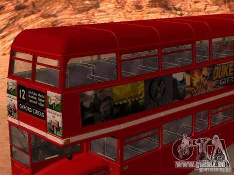 AEC RouteMaster RML für GTA San Andreas obere Ansicht