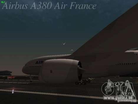 Airbus A380-800 Air France pour GTA San Andreas vue arrière