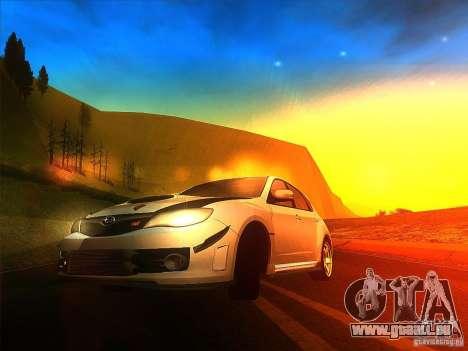 Subaru Impreza WRX 2008 Tunable für GTA San Andreas linke Ansicht