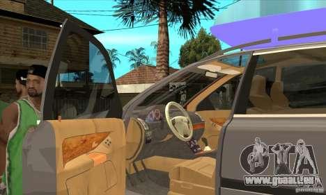 Volvo XC90 Sport pour GTA San Andreas vue intérieure