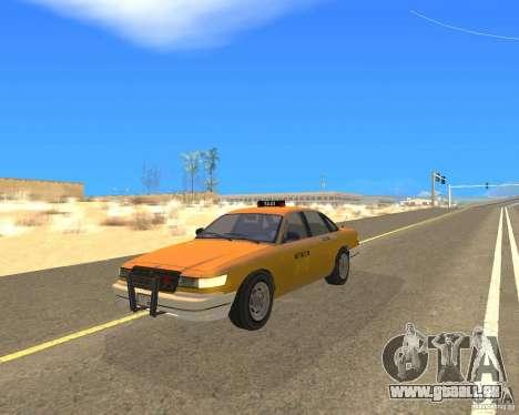 Taxi from GTAIV für GTA San Andreas zurück linke Ansicht