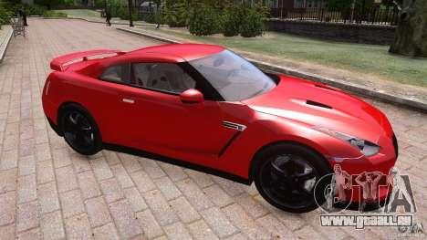 Nissan GTR R35 v1.0 pour GTA 4 est une vue de l'intérieur