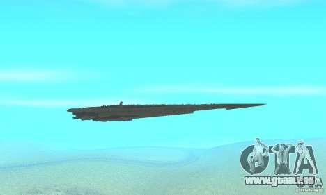 Executor Class Stardestroyer pour GTA San Andreas vue intérieure