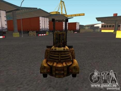 Chariot élévateur du TimeShift pour GTA San Andreas sur la vue arrière gauche