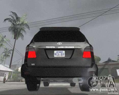 Toyota Land Cruiser 100 VX pour GTA San Andreas sur la vue arrière gauche