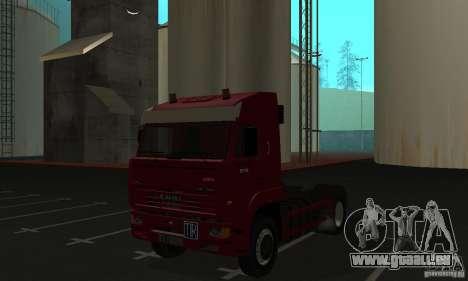 KAMAZ 5460 peau 1 pour GTA San Andreas laissé vue