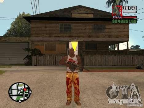 BulletStorm M4 pour GTA San Andreas deuxième écran