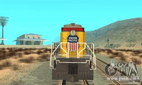 RS3 Diesel Lokomotive Union Pacific für GTA San Andreas linke Ansicht