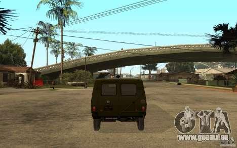 UAZ 3972 für GTA San Andreas zurück linke Ansicht