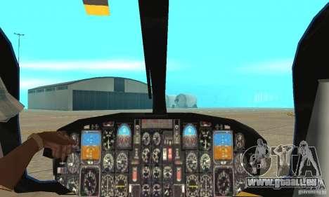 EC-135 Gendarmerie pour GTA San Andreas vue intérieure