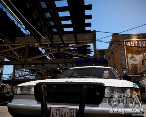 Russian Police Cruiser pour GTA 4 Vue arrière