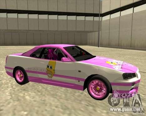 Nissan Skyline R34 Mr.SpaT pour GTA San Andreas