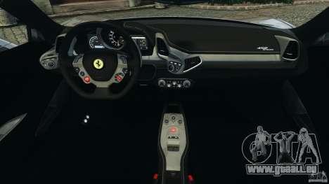 Ferrari 458 Spider 2013 v1.01 pour GTA 4 Vue arrière