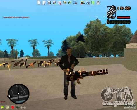 Smalls Chrome Gold Guns Pack pour GTA San Andreas neuvième écran