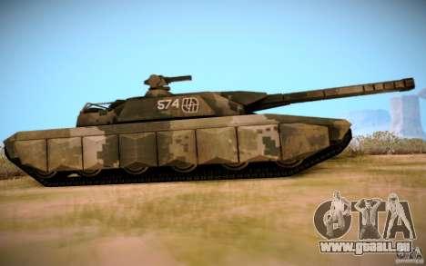 A-8 Tiger pour GTA San Andreas sur la vue arrière gauche